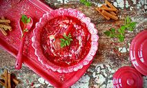 Красный борщ с фрикадельками