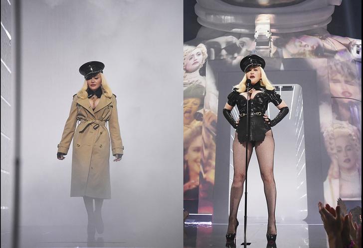 Фото №1 - Мадонна в боди, Джей Ло в «шнурочках»: 25 экстравагантных нарядов звезд на MTV VMA 2021