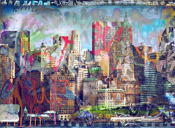 Фото №2 - Модный прием: стрит-арт и граффити