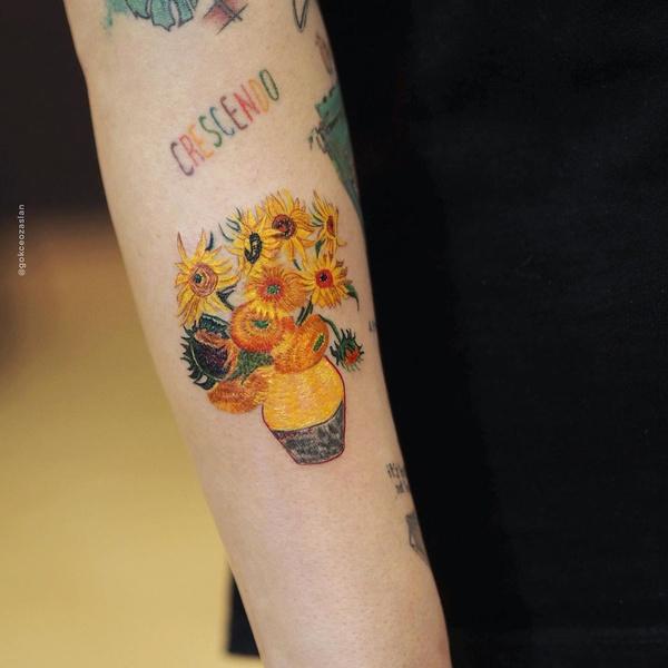 Фото №6 - Первая татуировка: самые красивые эскизы в стиле акварели