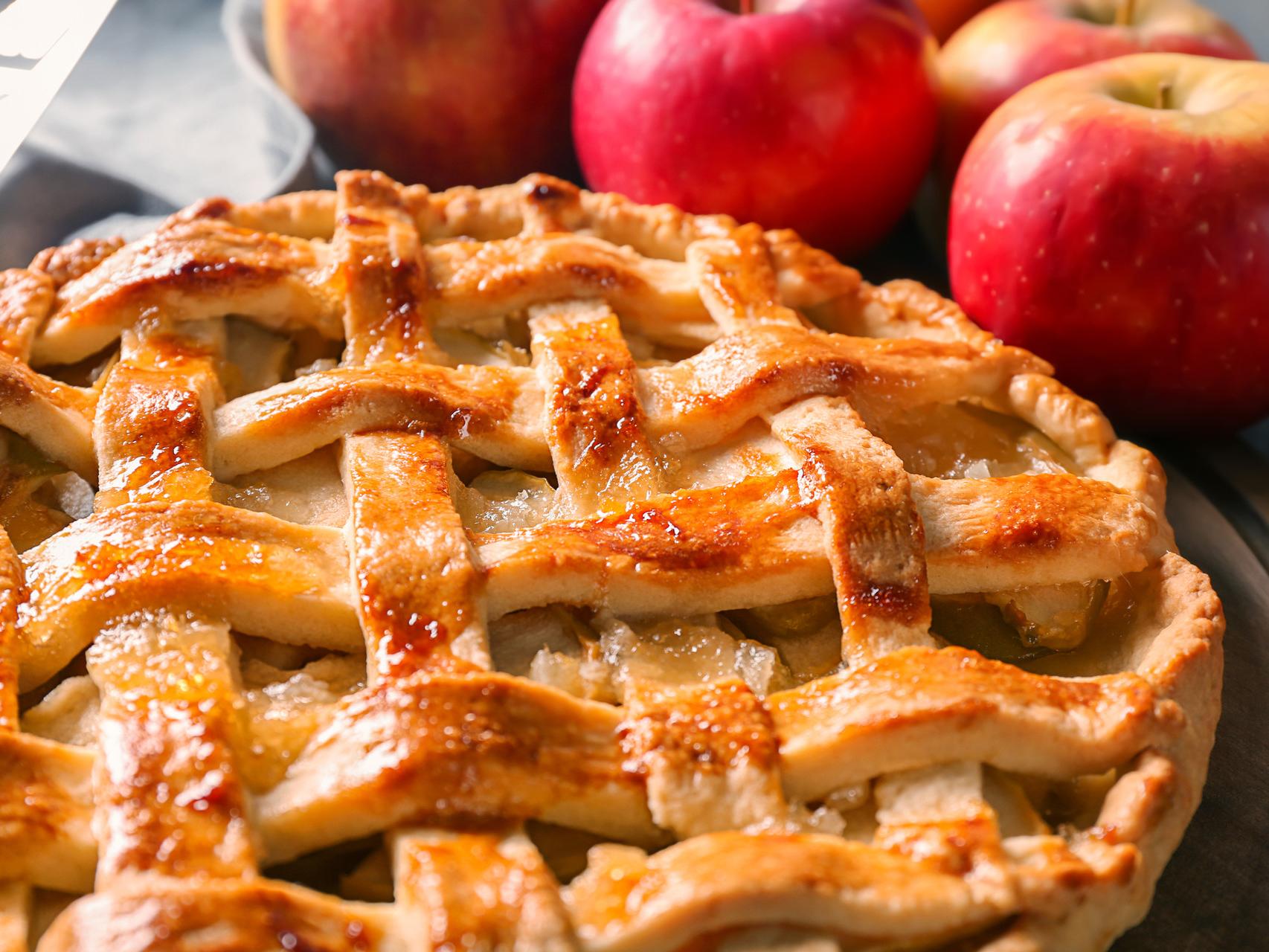 Как с картинки: приготовьте плетеный яблочный пирог