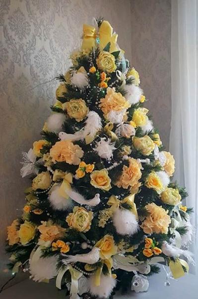 необычно украшенные елки фото