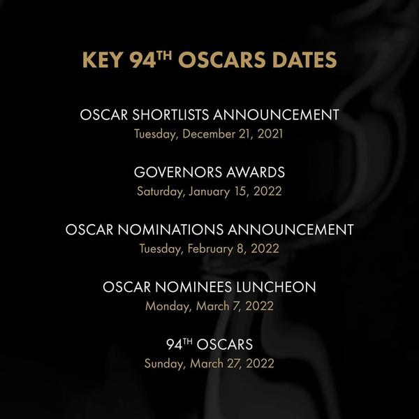 Фото №3 - «Оскар-2022» тоже перенесли: все главные даты кинопремии