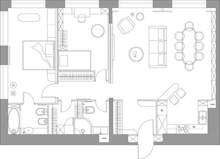 Фото №17 - Квартира 105 м² с необычным дизайном и арочными окнами на ЗилАрт