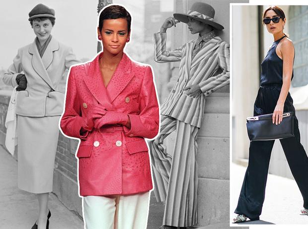 Фото №1 - Как менялась офисная мода: от классического костюма до латекса и кожи