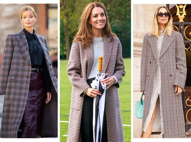 Фото №1 - Осенняя классика: где искать пальто в клетку, как у герцогини Кейт