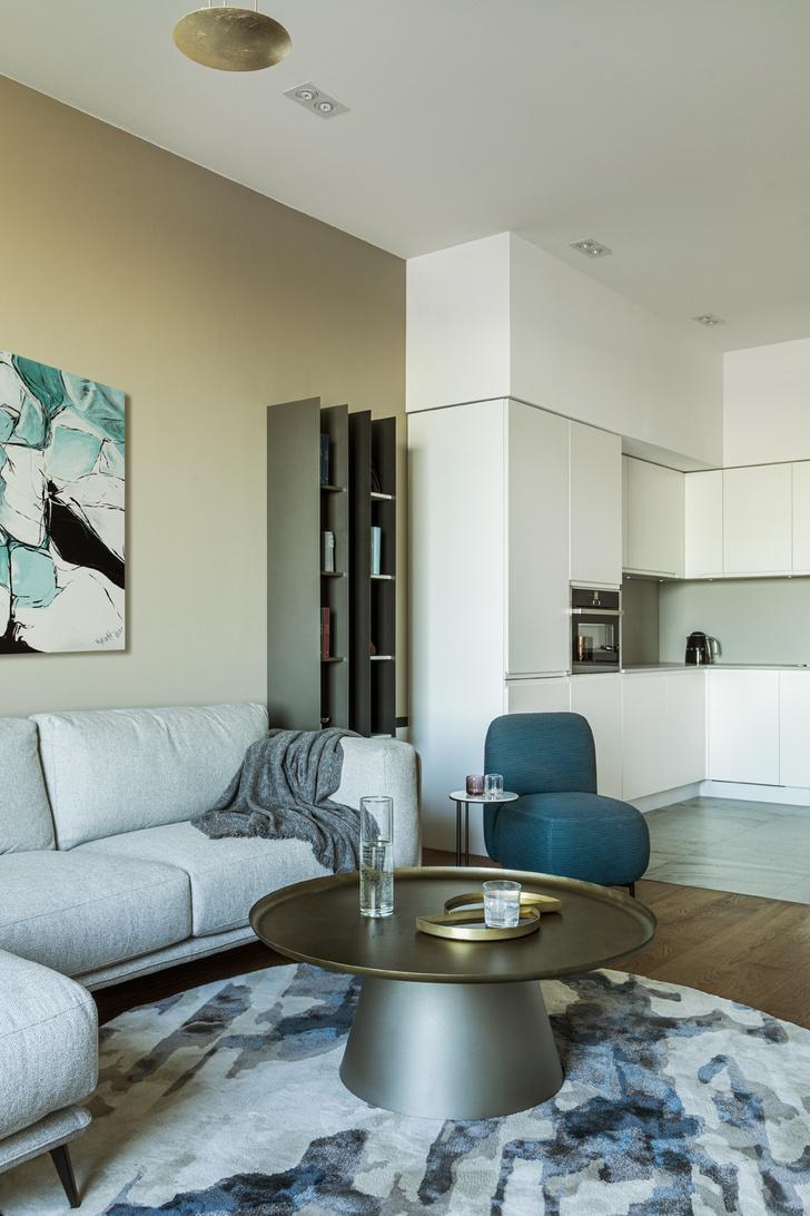 Фото №3 - Минималистичный интерьер в теплых тонах для двухкомнатной квартиры