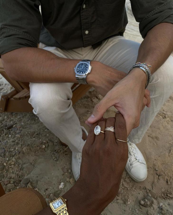 Фото №1 - Еще одна супермодель выходит замуж за миллионера! Огромный бриллиант Жасмин Тукс