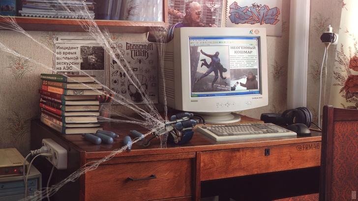 Фото №3 - Как жил бы Человек-паук, родись он в Сибири: арт-проект от российского гуру киберпанка