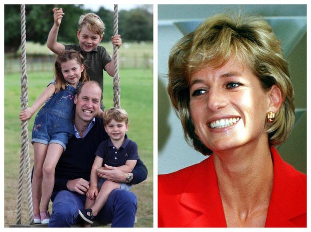 Фото №1 - Письма бабушке: как Джордж, Шарлотта и Луи «поддерживают» связь с принцессой Дианой