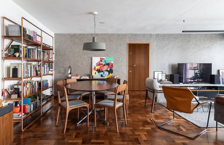 Фото №4 - Бетонная квартира с розовыми акцентами в Сан-Паулу