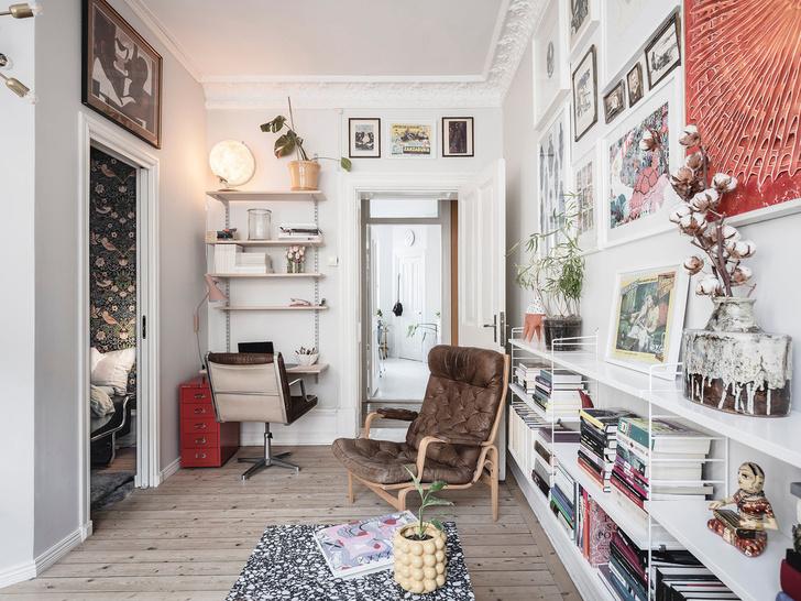 Фото №12 - Уютная скандинавская квартира с микро-спальней в Гетеборге
