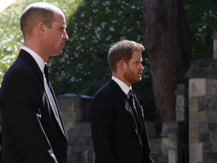 Фото №1 - Читая по губам: о чем Гарри и Уильям говорили после похорон принца Филиппа