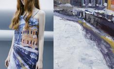 Российский дизайнер перенесла на одежду Петербург