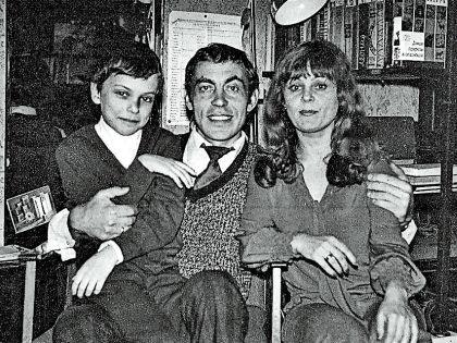 Михаил Сычев и Ирина Асмус с сыном Андреем