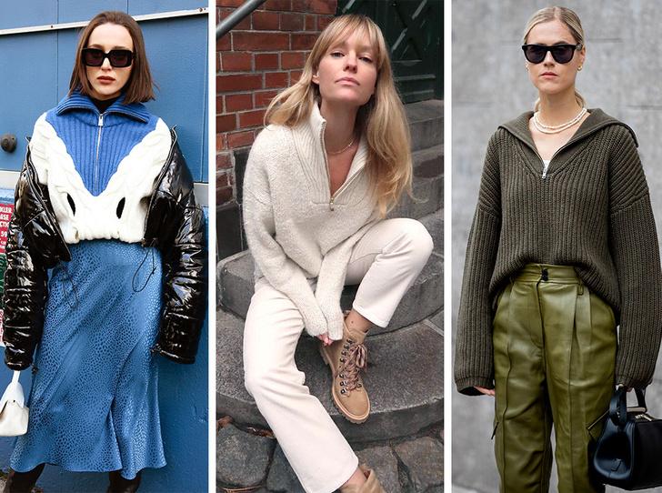 Фото №1 - Свитер с молнией: как носить самый модный джемпер из 90-х