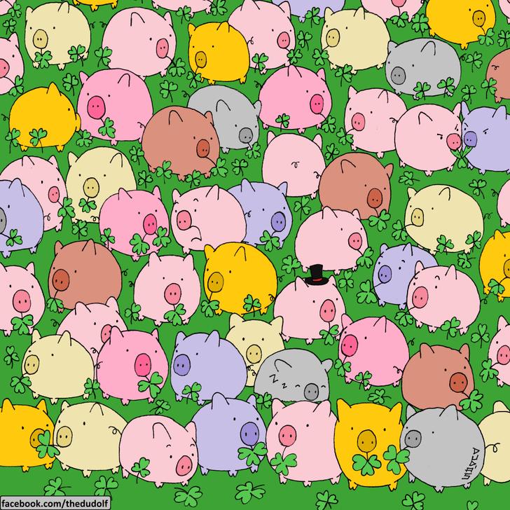 Фото №1 - Непростая головоломка, зато на счастье: найди четырехлистный клевер