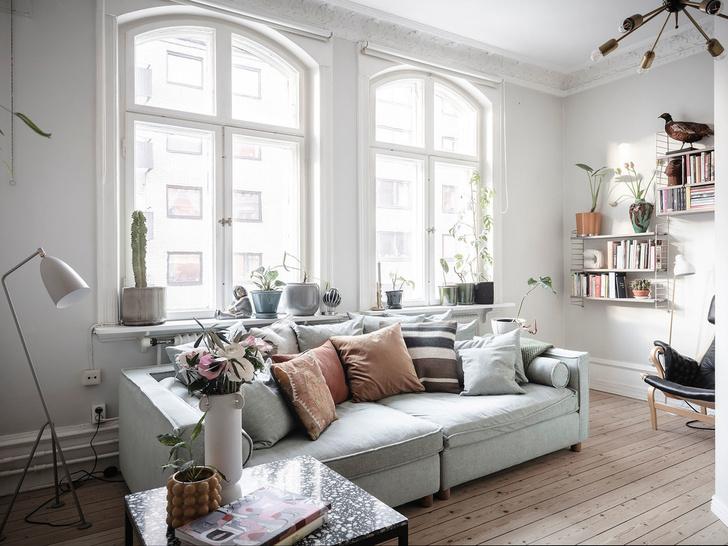 Фото №9 - Уютная скандинавская квартира с микро-спальней в Гетеборге