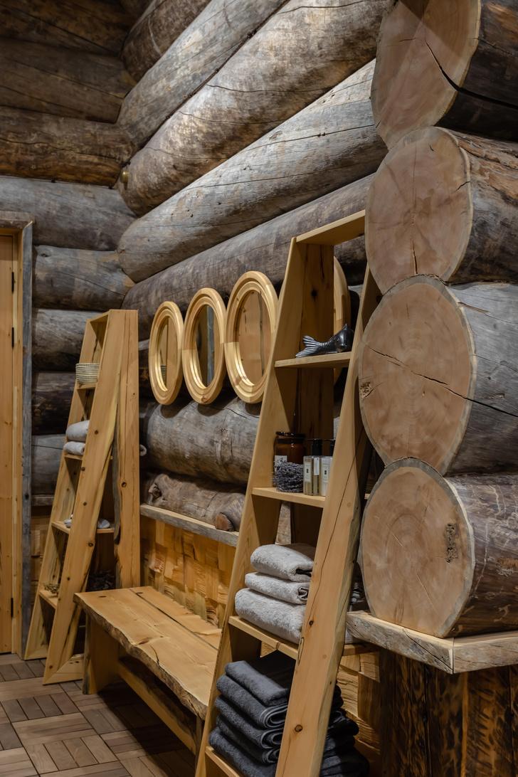 Фото №15 - Деревянная баня с высокотехнологичным дизайном в Подмосковье