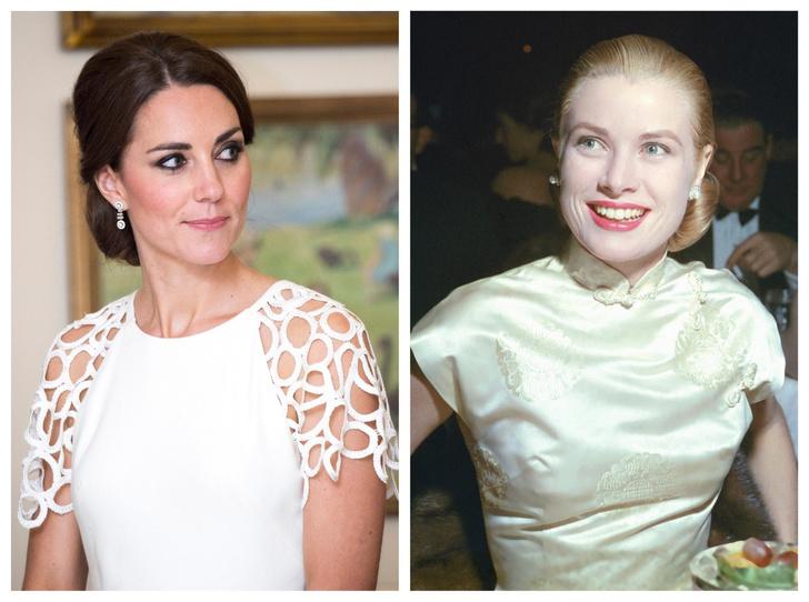 Фото №1 - Неожиданное сходство: что общего между герцогиней Кейт и Грейс Келли