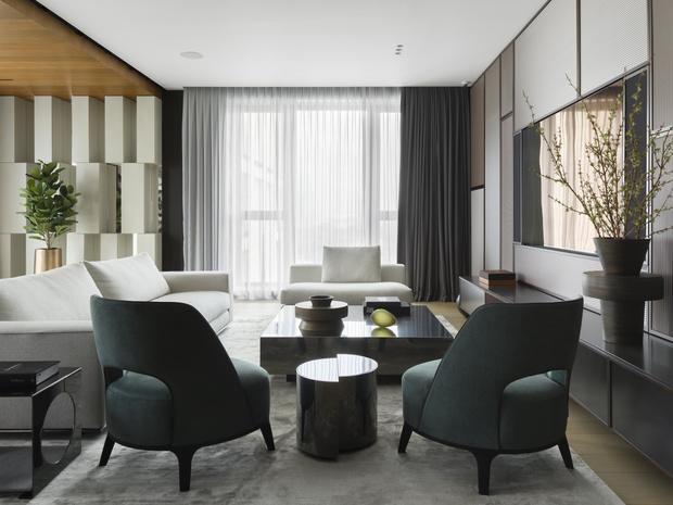 Фото №1 - Московская квартира 222 м² в стиле роскошный минимализм