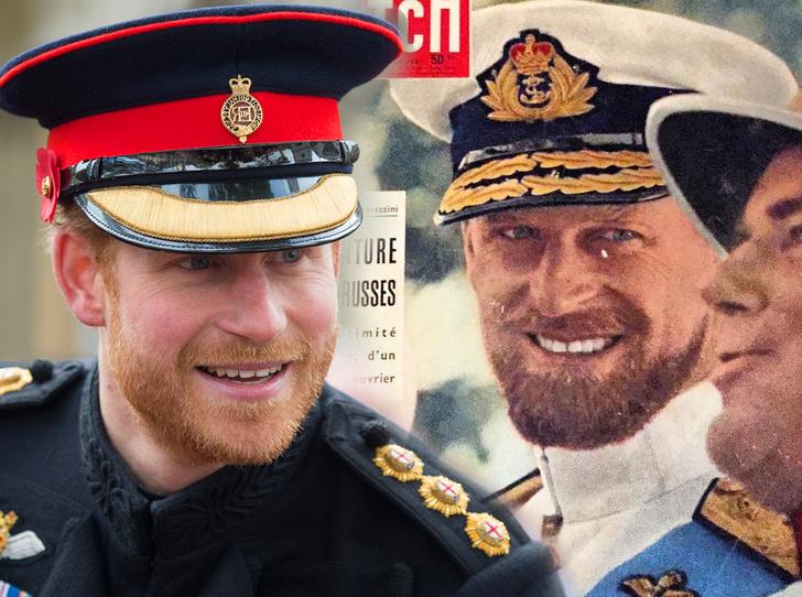 Фото №1 - Королевское сходство: принц Гарри и дедушка Филипп, герцог Эдинбургский