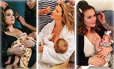 Звездные мамы, которые публично кормят грудью: фото