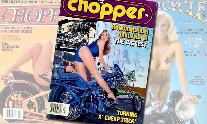 Фото №1 - Смелые обложки журналов для байкеров 70-80х