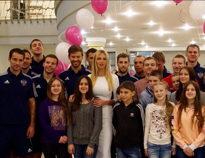 Виктория Лопырева и Федор Смолов впервые встретились после разрыва