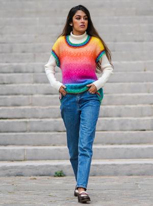 Фото №11 - С чем носить базовые прямые джинсы: модные идеи на любой случай