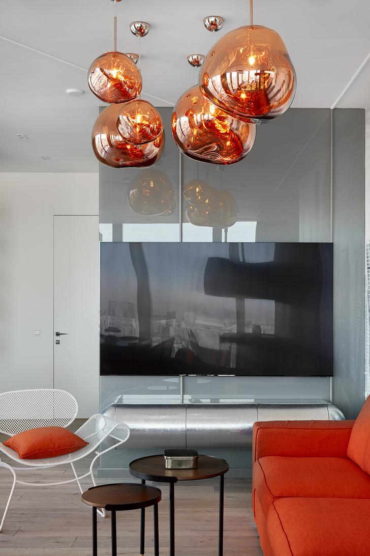Фото №5 - Графичный интерьер апартаментов в Москва-Сити