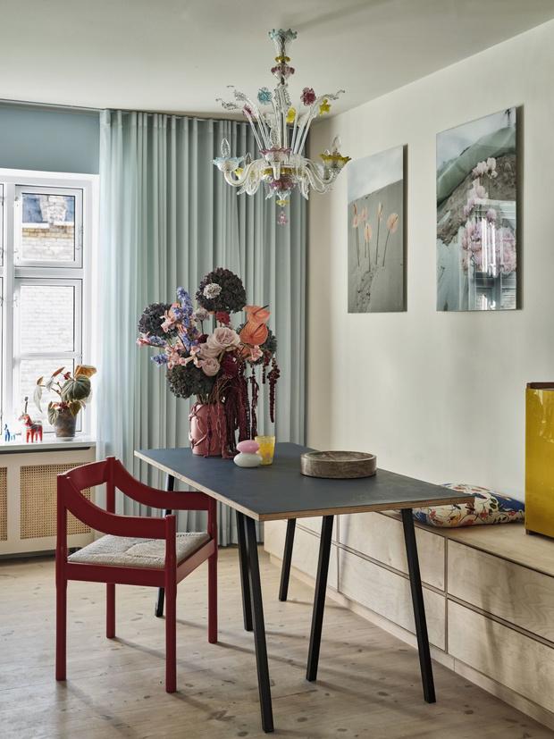 Фото №1 - Цвет, экспрессия, максимализм: уютный дом в Копенгагене