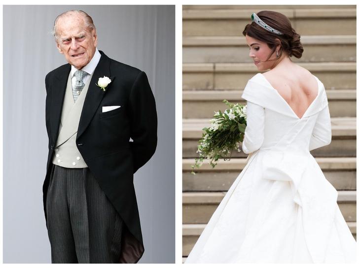 Фото №1 - Любящий дедушка: самый трогательный свадебный подарок принцессы Евгении, который она получила от принца Филиппа