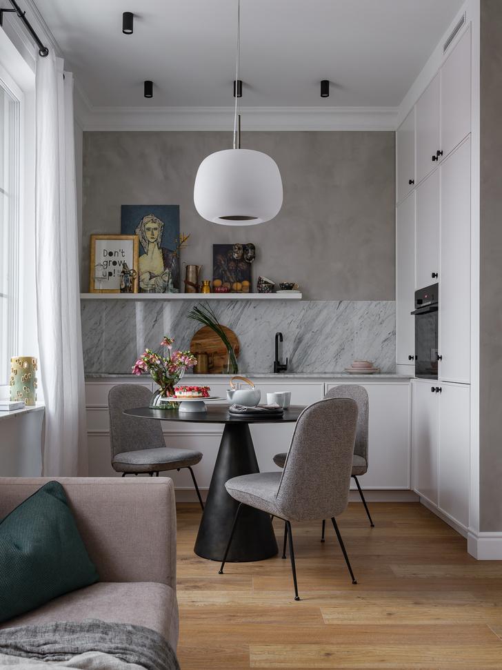 Фото №2 - Идеи для маленьких кухонь: изучаем проекты дизайнеров