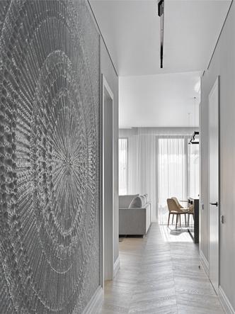 Фото №6 - Минималистская квартира 132 м² с ванной за стеклом