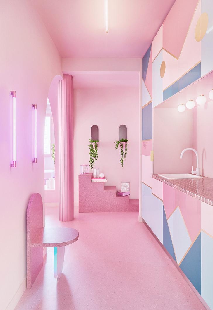 Фото №5 - Розовая квартира в центре Мадрида