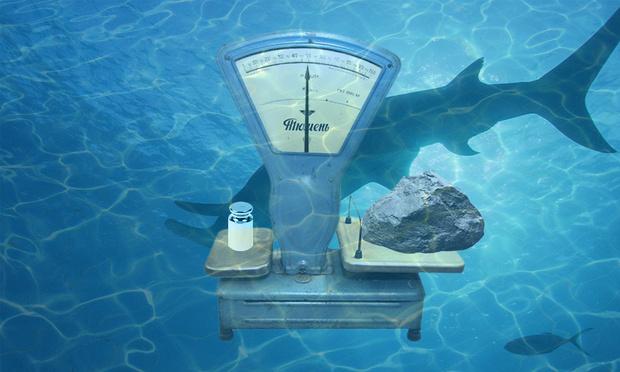 Фото №1 - Логическая головоломка недели: весы под водой