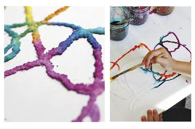 Фото №1 - Рисование с помощью соли: пышная краска и соленая акварель