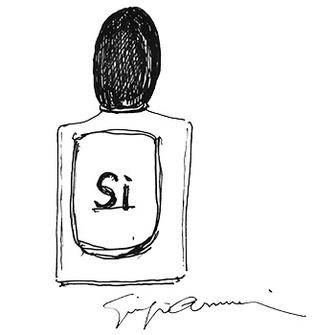 Новый аромат Sì призван стать воплощением итальянского стиля Giorgio Armani. Парфюмерная композиция строится на сочетании нот черной смородины, ванили, фрезии, розы и мускусного дерева.