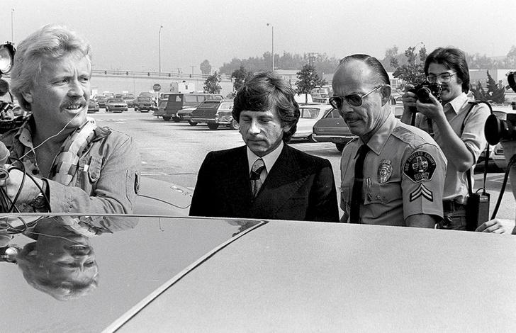 Арест Полански в Лос-Анджелесе в 1977 году.