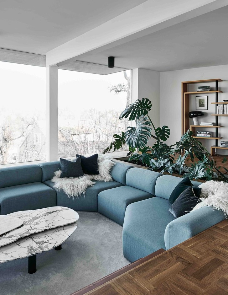 Фото №2 - Двухэтажная вилла в Швеции для семьи дизайнеров