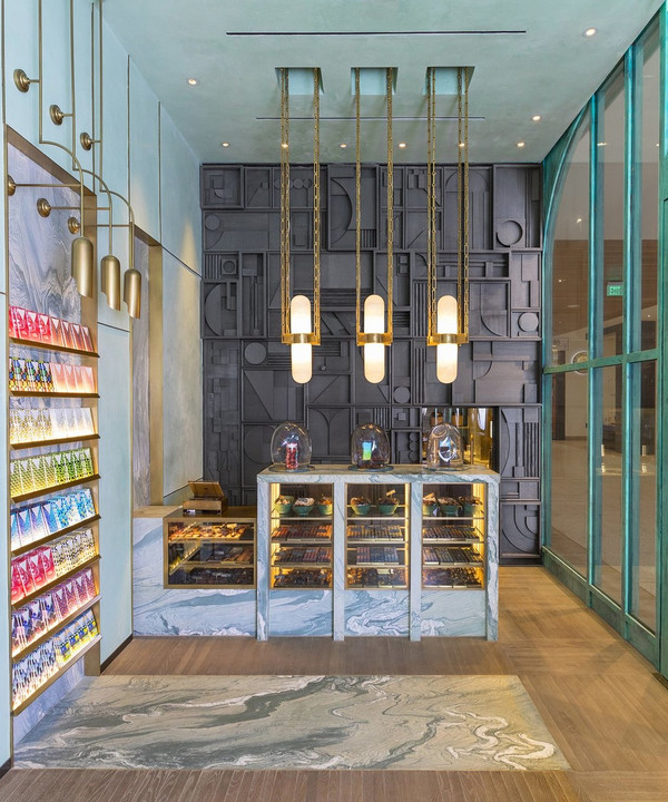 Шоколадная фабрика: кондитерская Compartes по дизайну Келли Уэстлер