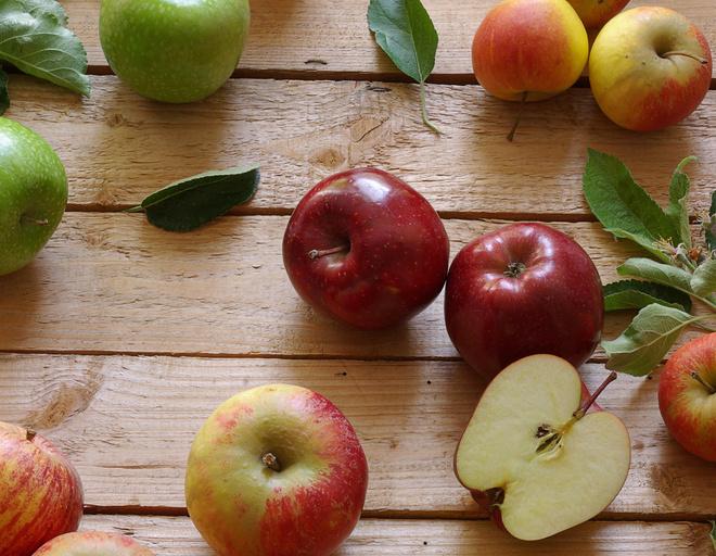 как мочить яблоки в ржаной муке