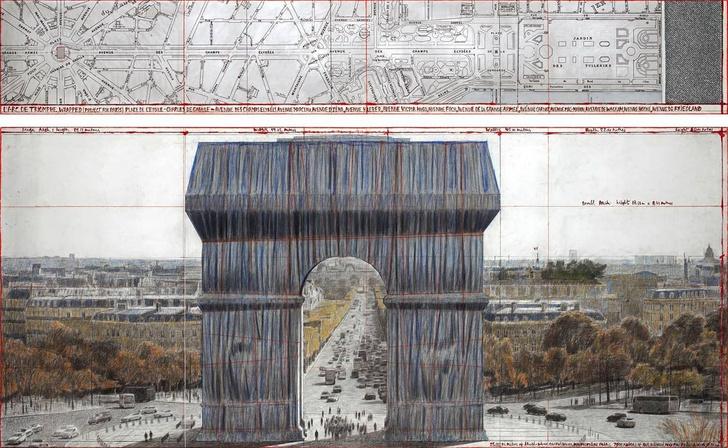 Фото №1 - Триумфальную арку в Париже полностью обернут тканью