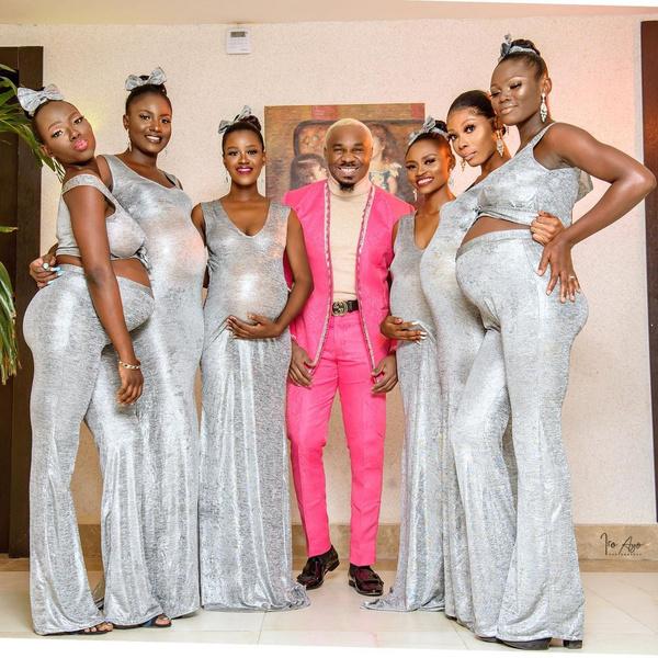 Фото №2 - Плейбой-миллионер привел на свадьбу 6 беременных от него девушек