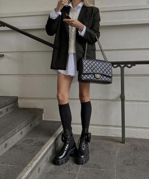 Фото №5 - Одна вещь— 7 образов: собираем луки с черным оверсайз-пиджаком