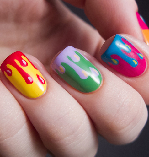 Дизайн ногтей осень-зима 2015. Яркий дизайн ногтей. Фото.