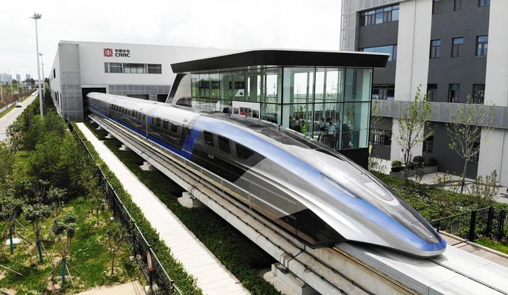 Фото №1 - В Китае представили поезд, способный разогнаться до 600 км/ч