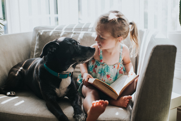 Dogs have a positive effect on child development