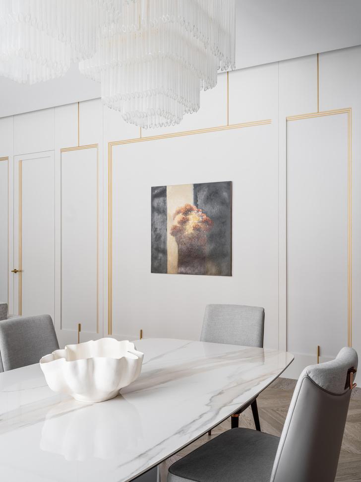 Фото №4 - Квартира в пастельной гамме с золотыми акцентами